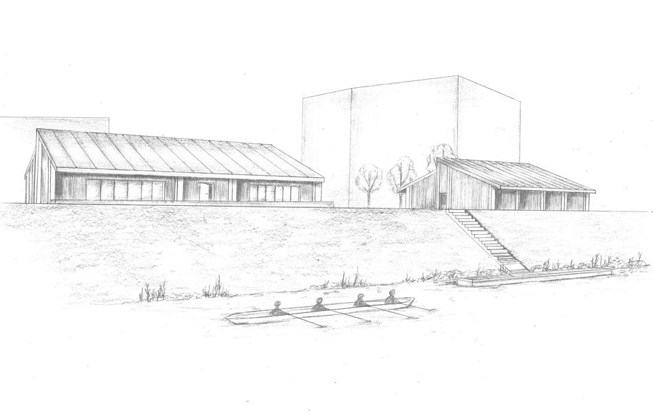 Außenraumperspektive zum Architekturprojekt von Venetia Böhmer im SS 2021