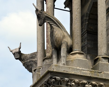 Kathedrale Notre-Dame in Laon, Ochsenskulpturen